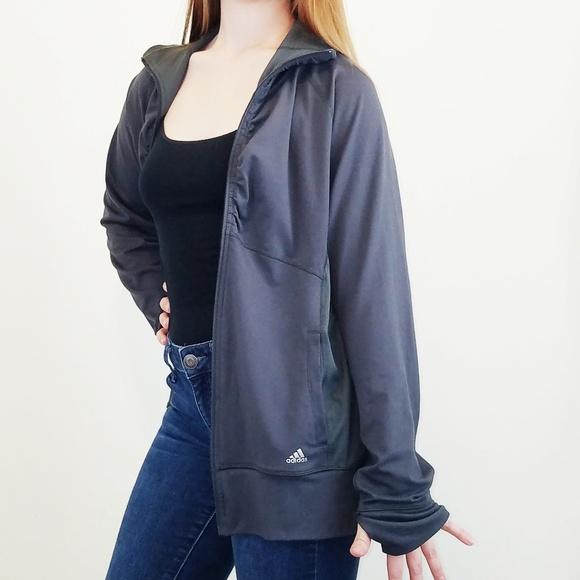 adidas Jackets & Blazers - Adidas Climalite Jacket Charcoal Gray XL